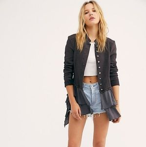 Free people Military Ruffles jacket